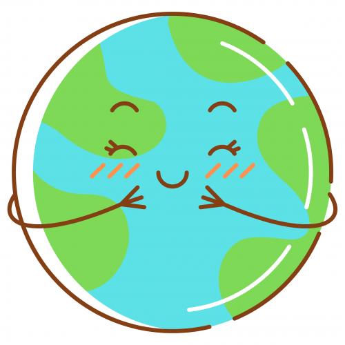 Planète souriant